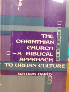 The Corinthian Church—A Biblical Approach to Urban Culture