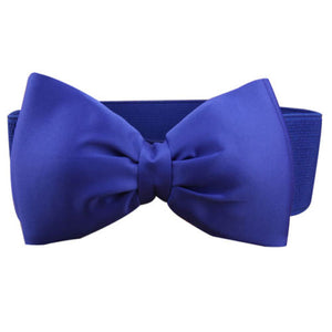 'Ready When You Are'' Bow Stretch Belt