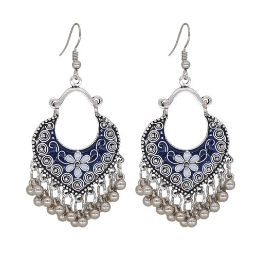 'Bohemian Rap' Tibetan Silver Vintage Drop Earrings
