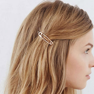 'Pin It' Vintage Safety Pin Hair Clip