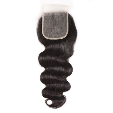 4☓4 Cambodian Transparent swiss lace Body wave closure