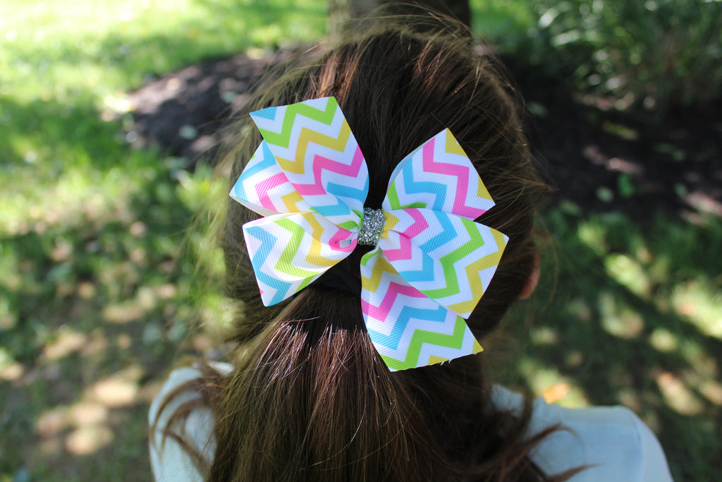 chevron, chevron stripe, chevron pattern, chevron bow, chevron hair bow, missy moo designs bows, wholesale