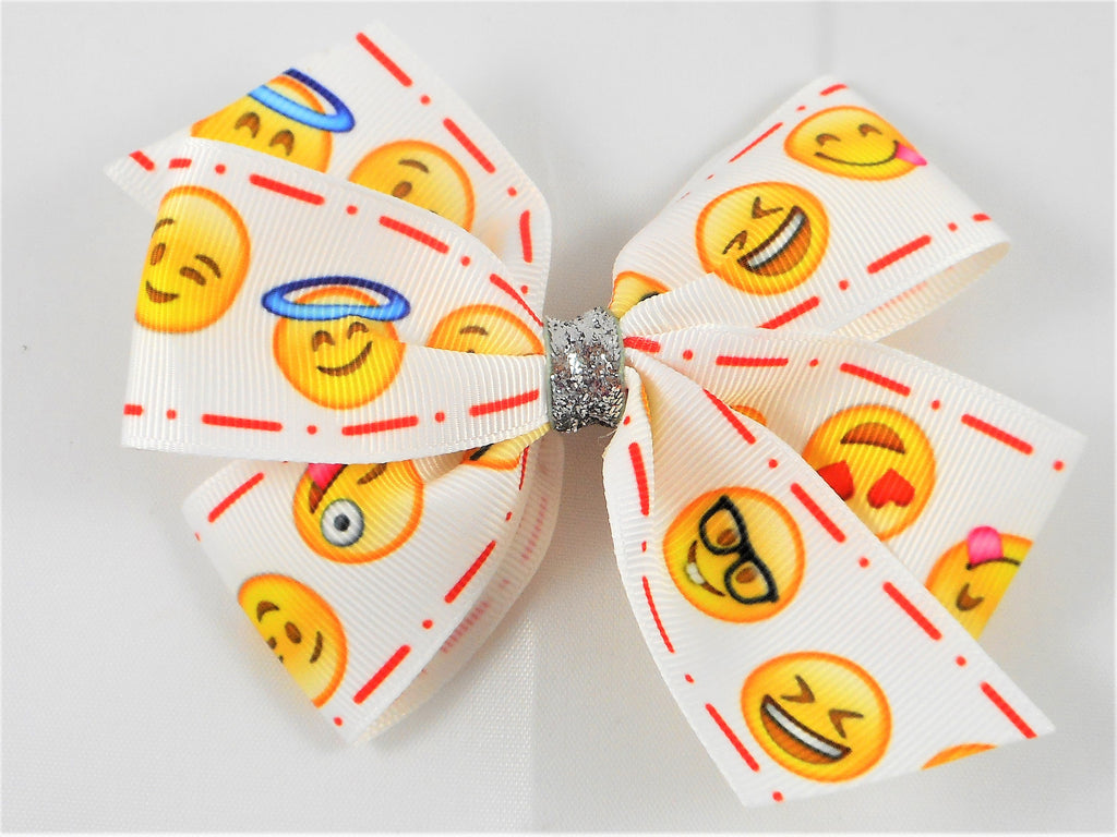 emoji ribbon boutique hair bow missy moo designs