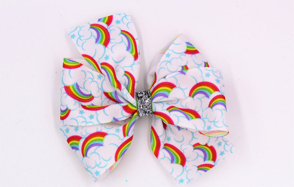 rainbow ribbon hair boutique bow missy moo designs