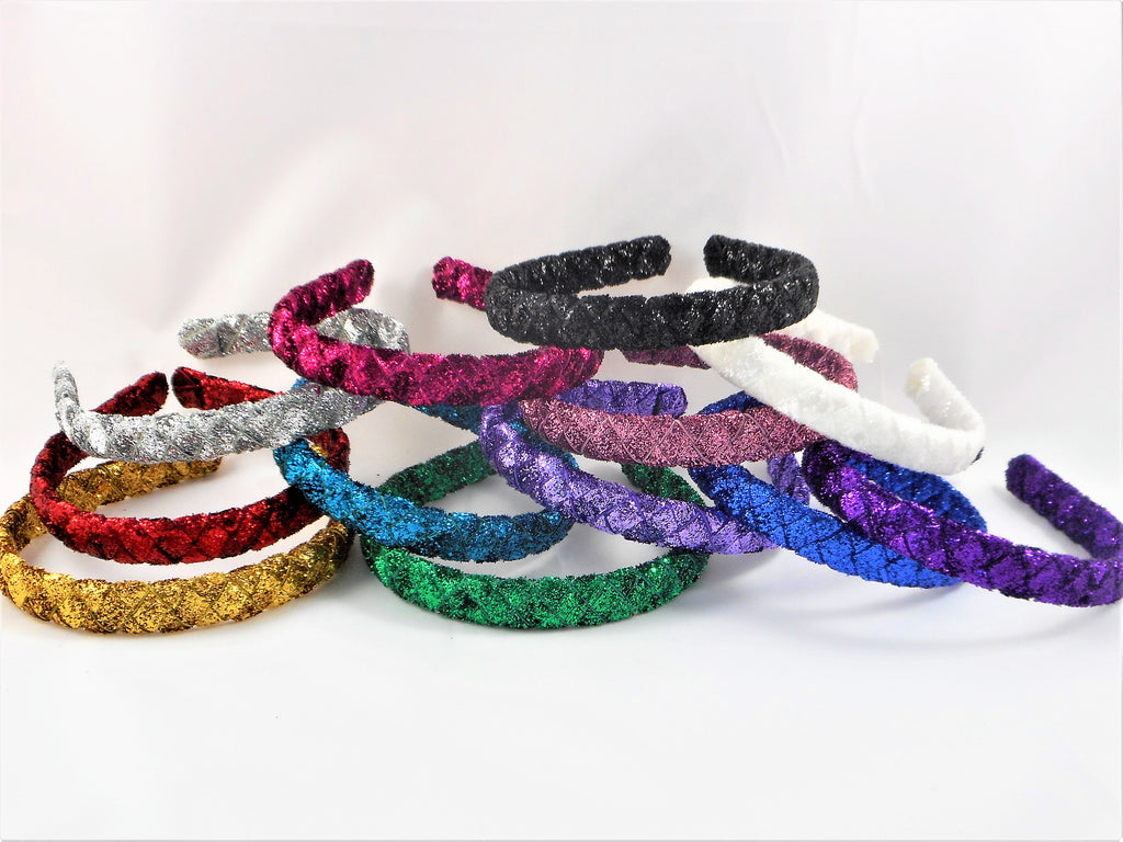 Glitter Headbands - 12 Varieties