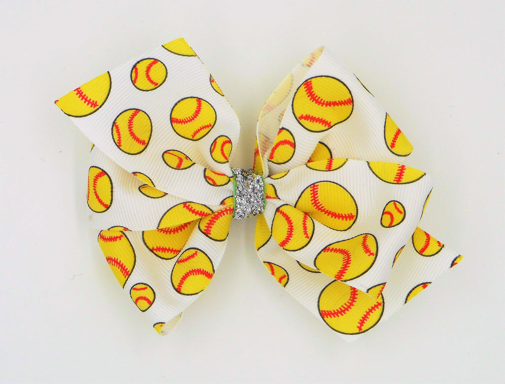 softball ribbon hair bow team bow softball missy moo designs wholesale