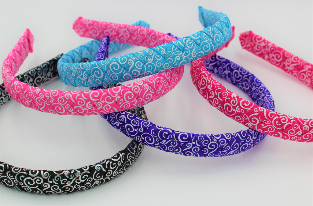 swirl ribbon, swirl ribbon headband, missy moo Designs, wholesale accessories