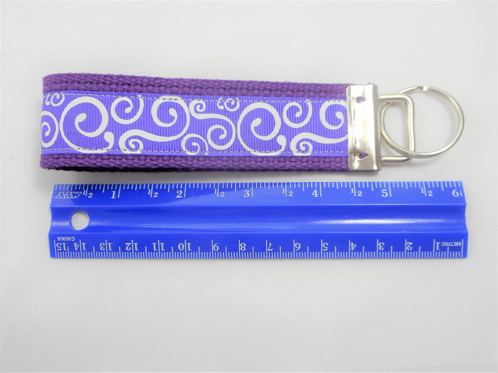 swirl scroll key chain key fob wristlet key chain missy moo designs