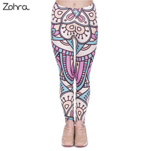 Zohra New Design Women Legins Mandala Turquoise And Pink Printing Legging Fashion High Waist Woman Leggings - That New Trend