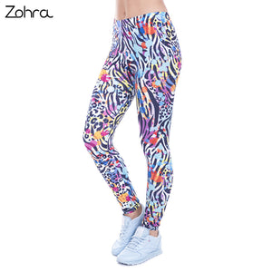 Zohra Women Legging Wild Dots Printed leggins for Women leggings High Waist Legins Woman Pants Stretch Leggings - That New Trend