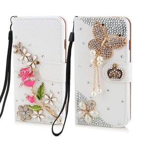 Crystal Butterfly Wallet Phone Case - That New Trend
