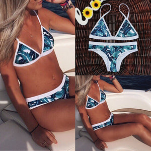 Push Up Two Piece Leaves Bikini - That New Trend