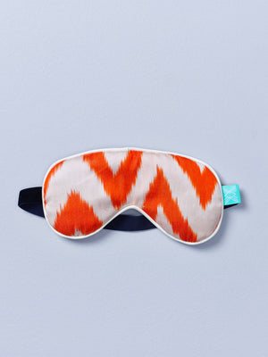 Orange Frankie Ikat Eye Mask with Lavender