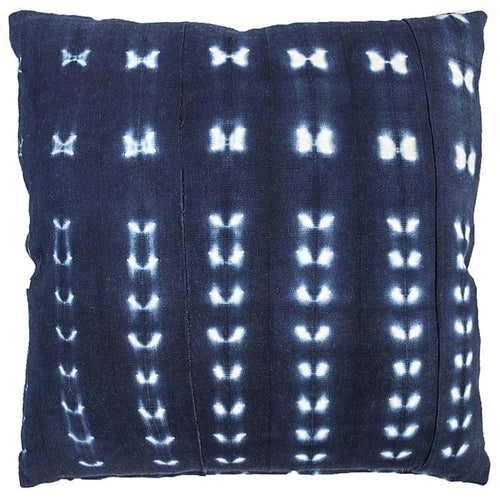 Indigo Dream Stitch Dye Cushion
