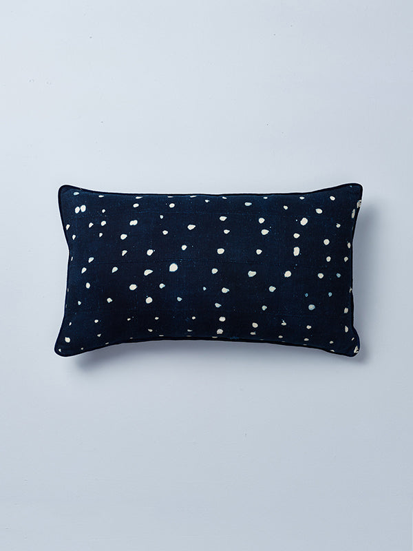 Night sky mudcloth indigo cushion detail Mali nomad design