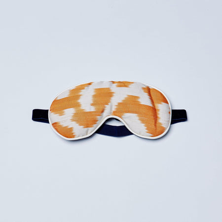 Blue Lotus Silk Eye Mask With Lavender