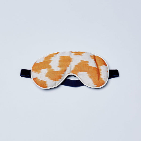 orange jess eye mask lavender and silk by nomad design