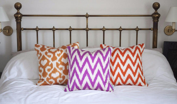 Orange Jess Ikat Cushion