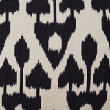 black shadow silk ikat sample nomad design