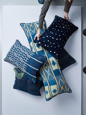 BALUE INDIGO DREAMS cushion collection nomad design