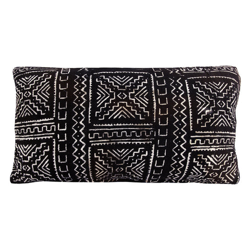 Black River Mudcloth Lumbar Cushion