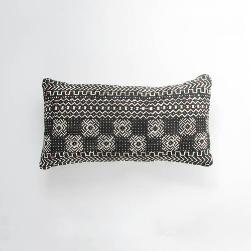 black river mudcloth cushion by nomad design