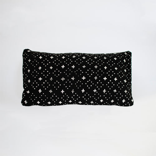 black crosses mudcloth cushion by nomad design