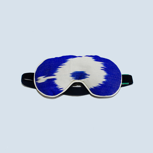 Blue Zanna Silk Eye Mask