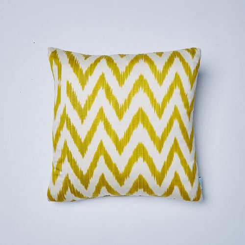 Celery Frankie Ikat Cushion