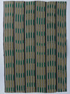 Emerald and Citron Embroidered Baulé Ikat Cloth nomad design