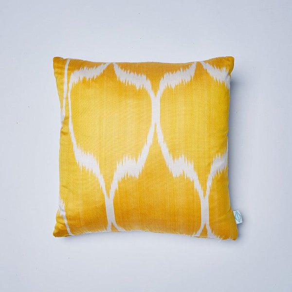 Gold Sophie Ikat Cushion
