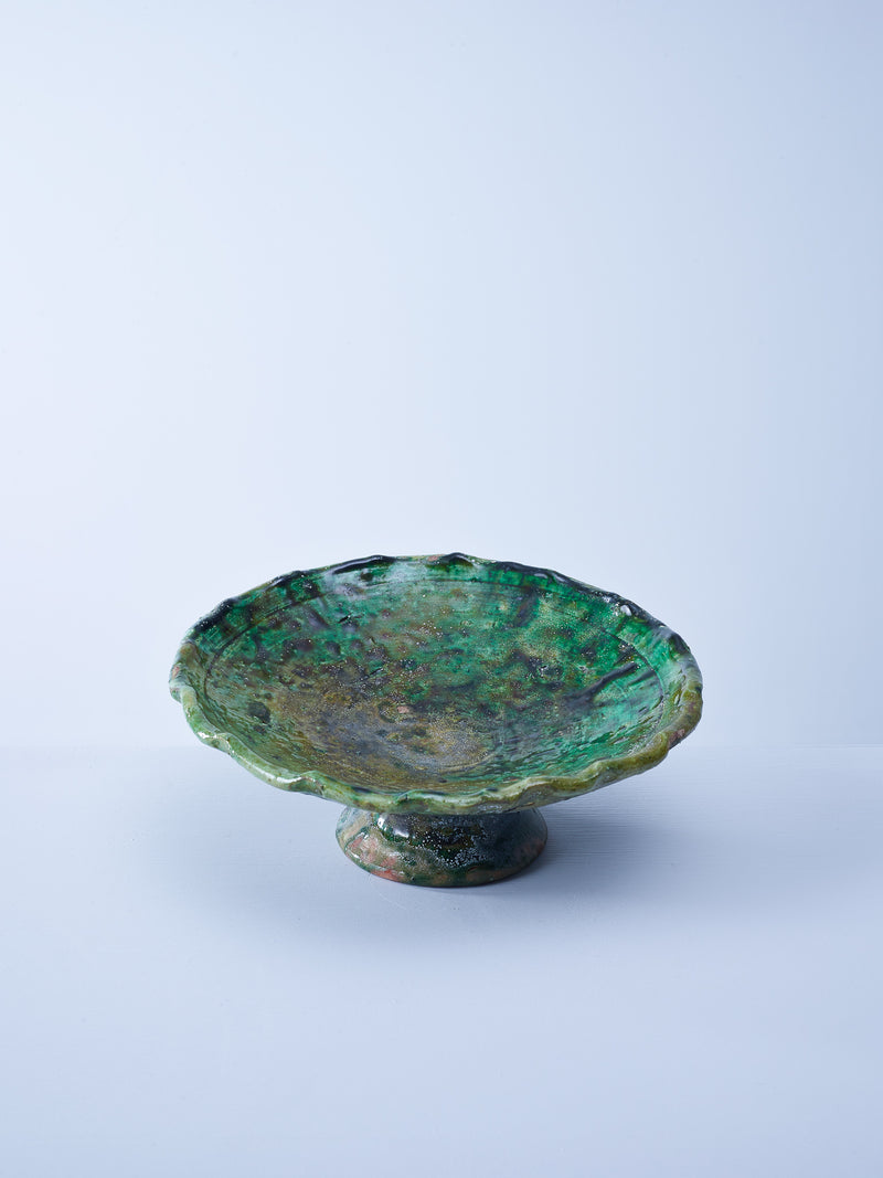 green glazed tamegroute cake Stand nomad design