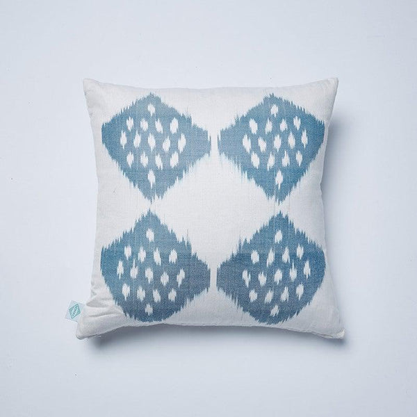 Grey Leo Ikat Cushion