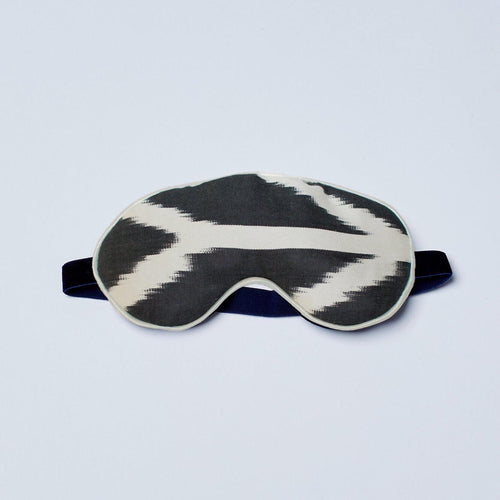 Black Chevy Silk Eye Mask