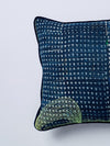 nigerian indigo square cushion nomad design