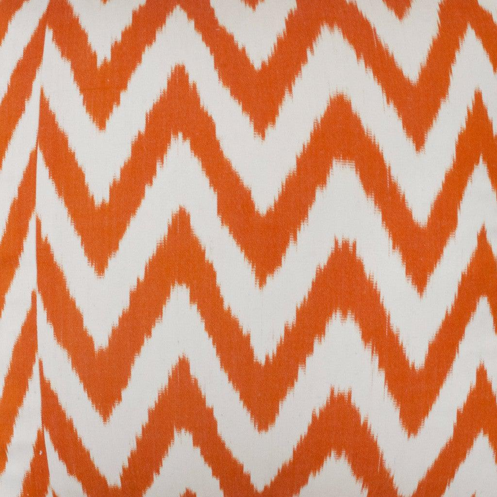 orange frankie silk ikat sample nomad design