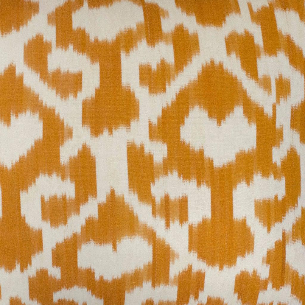 orange jess silk ikat sample nomad design
