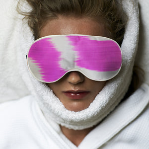 pink jemima eye mask lavender and silk by nomad design