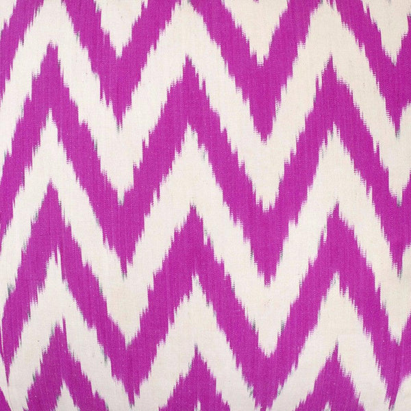 raspberry frankie silk ikat sample nomad design