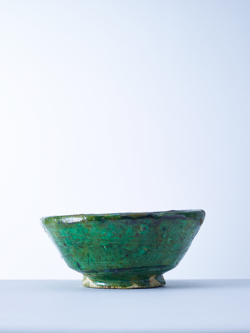 green tamegroute pottery bowl nomad design