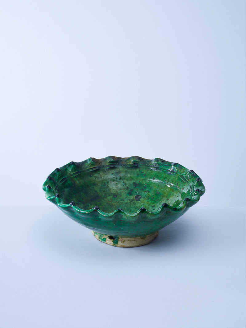 green glazed tamegroute serving bowl nomad design