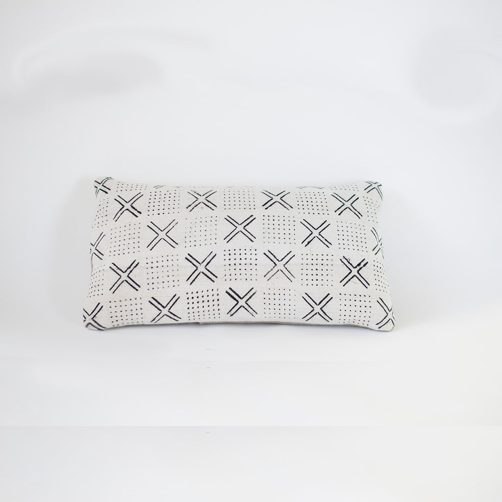 white arrow mudcloth cushion nomad design