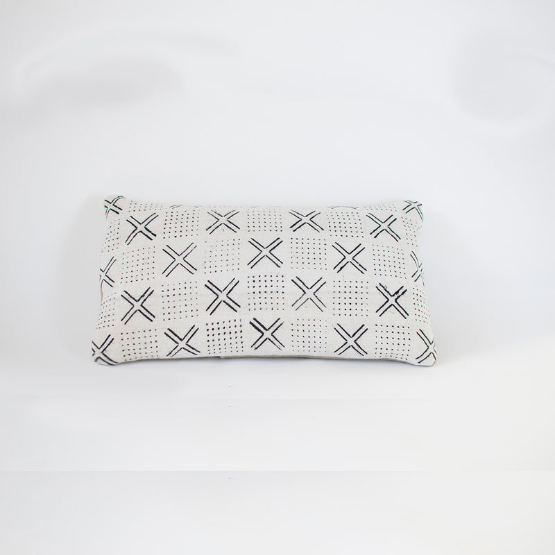 white arrow mudcloth cushion by nomad design