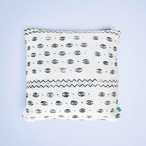 white hot lips mudcloth cushion by nomad design