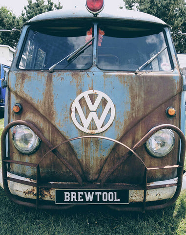 VW Camper Van with BrewTool numberplate