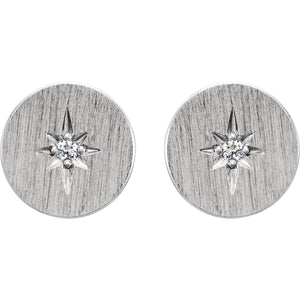 Circle Starburst Stud Earrings