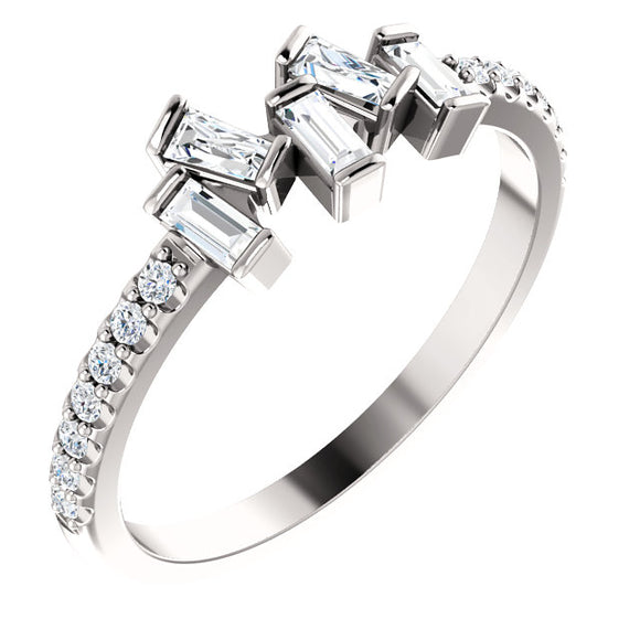 Diamond Baguette Scattered Ring
