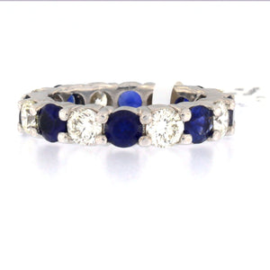 Large Sapphire & Diamond Eternity Band