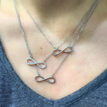 Reversible Sterling Silver Infinity Necklace
