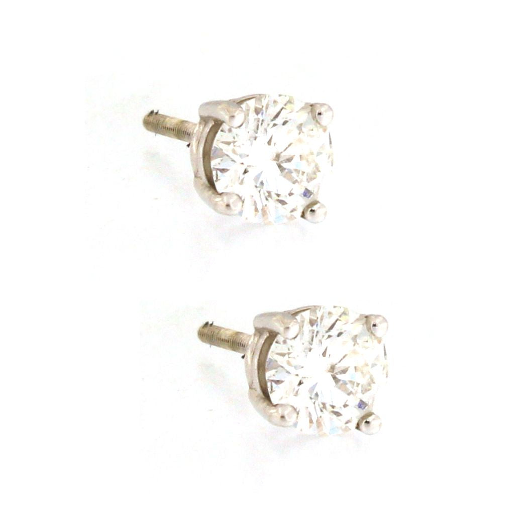 Diamond Stud Earrings (1 carat)